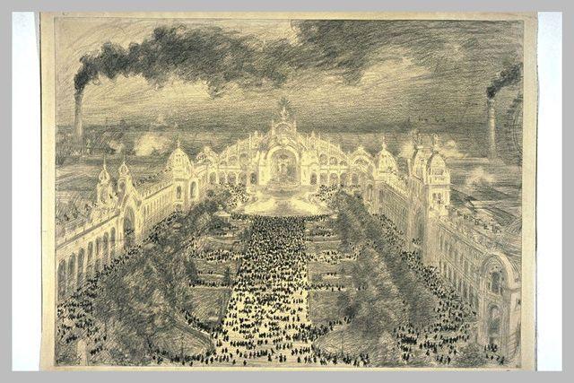 Vue de l'esplanade des Invalides [Exposition Universelle de 1900)