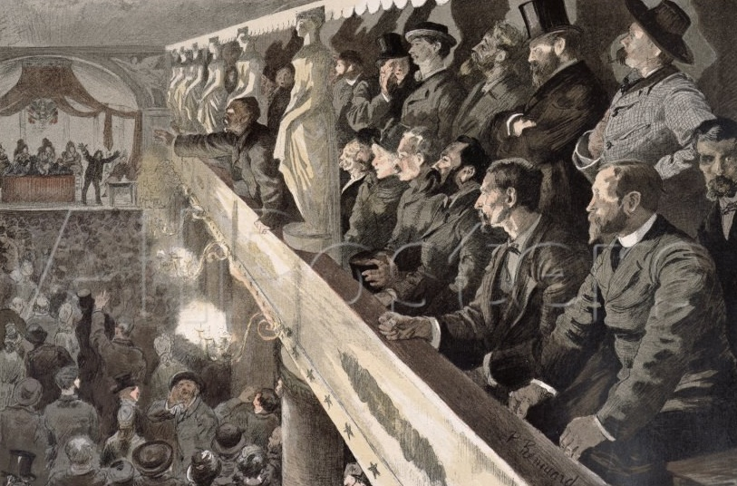 Public Meeting in Paris, 1885