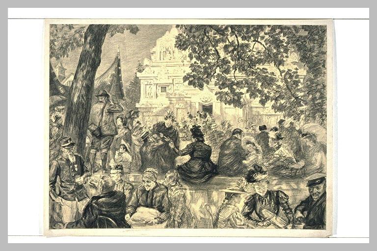 Scène de l'exposition universelle de 1900