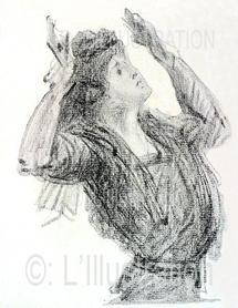 Gestes et attitudes de Marguerite Steinheil pendant son procès, Paris, novembre 1909.