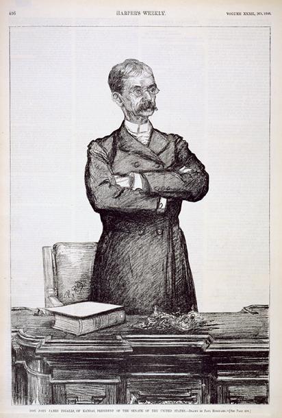 Hon. John James Ingalls, of Kansas, President of the Senate of the United States.