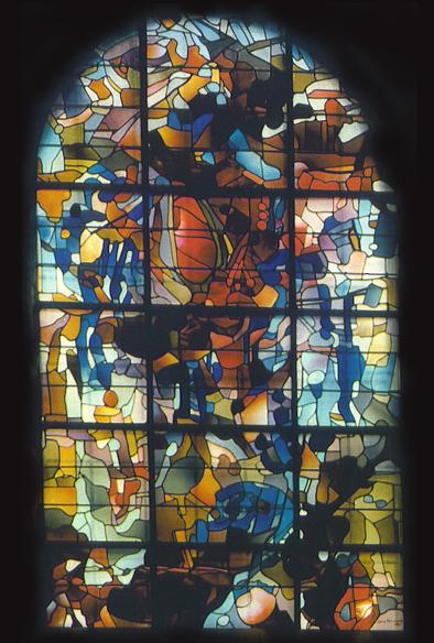 Baron Renouard, vitraux, Basilique de Brioude, 1983