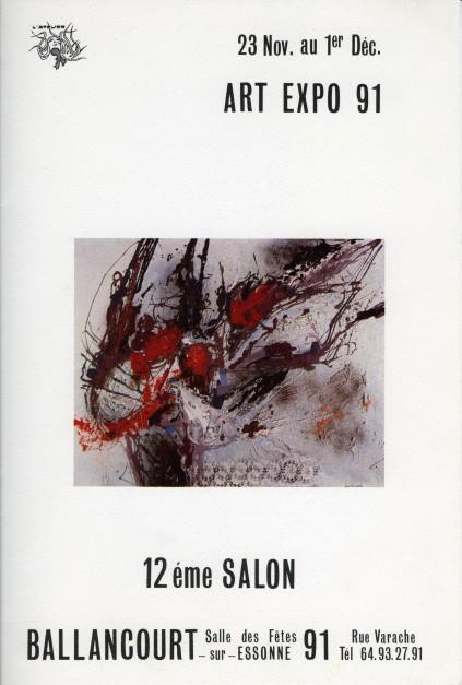 Affiche de l'exposition de Ballancourt, 1991