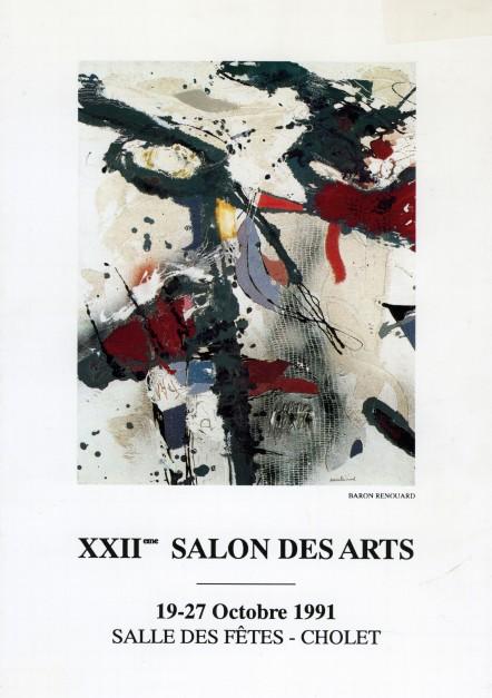 Affiche n°2 du Salon des Arts de Cholet, 1991