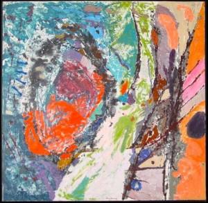 Musique des sphères                 1966, Huile sur toile, 130 x 130 cm, S.D.B.M. : Baron Renouard / 66