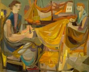 Les Remmailleuses de filet 2, 194960 × 73 cm