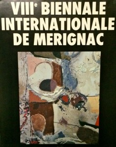 Affiche de la 8e Biennale internationale de Mérignac avec l'oeuvre de Baron-Renouard