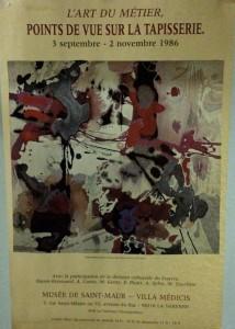 Affiche de l'exposition de Baron-Renouard, Tapisserie, 1986, Villa Médicis de Saint-Maur