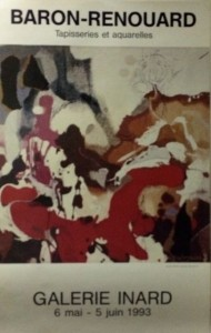 Affiche de l'exposition de Baron-Renouard à la galerie Inard, 1993