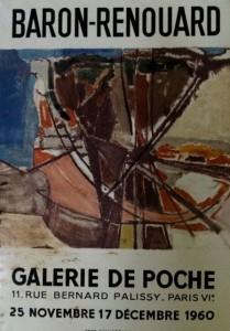 Affiche de l'exposition de Baron-Renouard à la Galerie de Poche, 1960, Paris