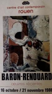 Affiche de l'exposition de Baron-Renouard au Centre d'art contemporain de Rouen, 1986, Paris
