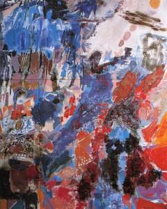 Espace, 1966250 × 200 cm5 toiles assemblées dont 1 de 150 × 150 cm,2 de 100 × 100 cm et 2 de 75 × 50 cm