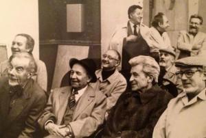 Édouard Georges Mac-Avoy et Baron-Renouard et quelques confrères lors d'une réunion du Salon d'Automne