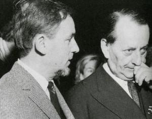 Portrait de Baron-Renouard avec André Malraux alors ministre de la Culture