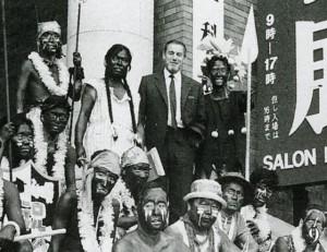 Portrait de Baron-Renouard à Tokyo où il y organisa le soixantième anniversaire du Fauvisme