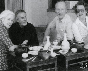 Portrait de Baron-Renouard à Tokyo avec l'ambassadeur français du Japon