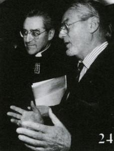 Portrait de Baron-Renouard avec le cardinal Jean-Marie Lustiger