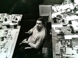 Portrait de Baron-Renouard à sa table de travail