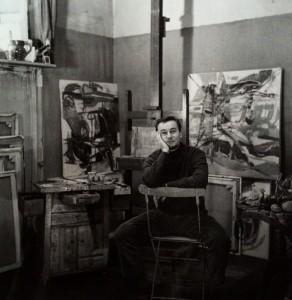 Portrait de Baron-Renouard dans son atelier rue de l'arbalète