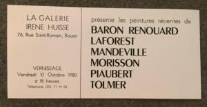 Galerie Irène Huisse, 1980